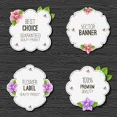 pic of labelling  - Set of banners with flowers - JPG