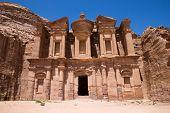 image of petra jordan  - Ancient temple in Petra - JPG
