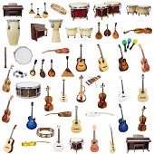 pic of wind instrument  - The image of music instruments isolated under the white background - JPG