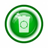image of recycle bin  - Recycle bin icon - JPG