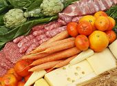picture of vegetable food fruit  - Assorted food fruit vegetables meats vegetables and dairies - JPG