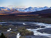 foto of denali national park  - Denali River Valley  - JPG