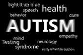picture of autism  - autism against black - JPG