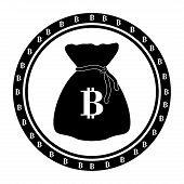 picture of bitcoin  - Bitcoin design over white background - JPG