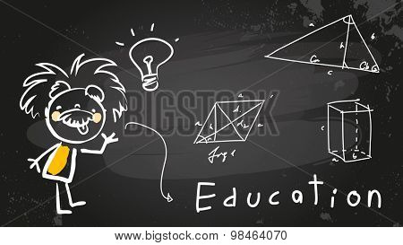 Einstein kid child student at