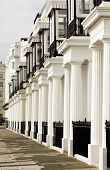 stock photo of edwardian  - Image showing a lovely row of edwardian terraced houses in London - JPG