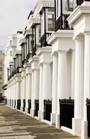 pic of edwardian  - Image showing a lovely row of edwardian terraced houses in London - JPG