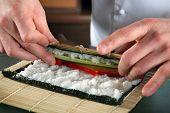 Vorbereiten der Sushi Chef