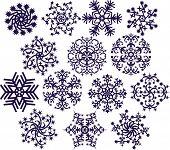 Los copos de nieve, vector