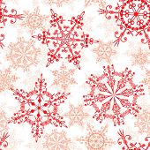 Seamless snowflakes pattern, vector illustration