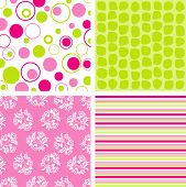 Scrapbook patterns for design, vector illustration