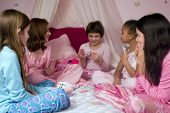 Playing Cards At A Slumber Party