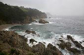Inclement Beauty Of Pacific Ocean Coastline