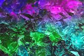 glowing gel abstract