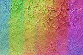 Постер, плакат: картина маслом в цвета радуги