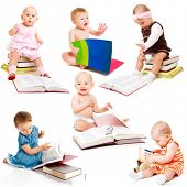 Set of six intelligent babies