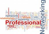 Background concept wordcloud illustration of professional networking