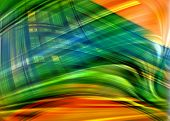 green orange abstract texture with rays of light