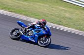 HUNGARORING, HUNGARY - JUNE 19: An unidentified rider negotiates a corner during ROSBK event at Hung