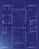 home blueprint architectural vector