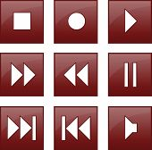 botones de control de audio y video