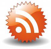 RSS Button in Vector art