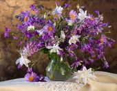 bouquet of flowers bells, Aquilegia