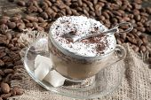 Cafe - coffee Latte Cappuccino cup glass
