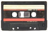 Audio cassette isolated on a white background
