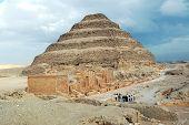 World famous Sakkara pyramid in Egypt