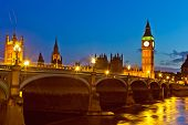 image of big-ben  - London at night - JPG