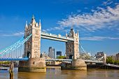 picture of bridge  - Tower Bridge in London - JPG