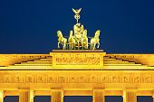 Quadriga on Brandenburg gate in Berlin