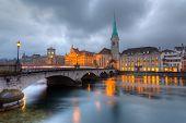Zurich at dusk