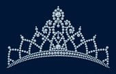 Diamond tiara - bridal, princess or beauty queen / illustration / with clipping path and alpha chanal