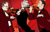 Vector illustration of violin players