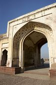 Archway in ancient building in Lahore Fort, Pakistan