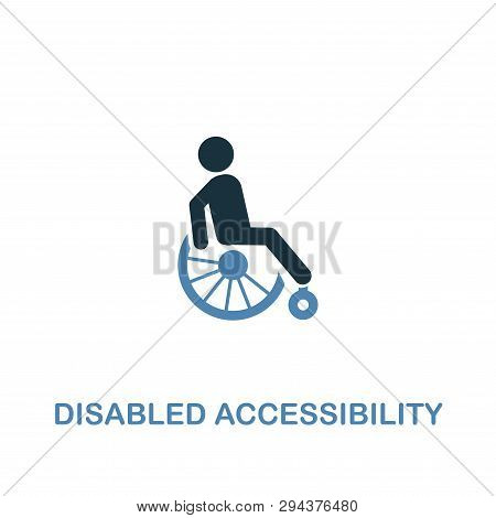 poster of Disabled Accessibility Icon In Two Colors. Creative Design From City Elements Icons Collection. Colo