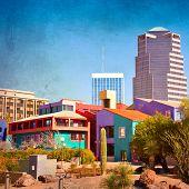 Centro de la ciudad de Tucson, Arizona con la Placita