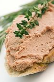 Meat Paste on Bread with Herbs