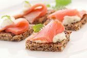 picture of baps  - Canape with Salmon - JPG