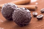 Chocolate Truffle with Cocoa powder