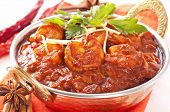 Curry de gambas Madras