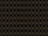 The Geometric Pattern With Lines. Seamless Background. Black And Gold Texture. Graphic Modern Patter poster