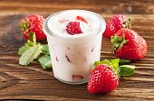 Fresh Strawberry yoghurt