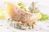 Fish fillet with avocado cream