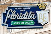 HAVANA-JANUARY 15:The historic Floridita restaurant January 15,2012 in Havana.The birthplace of daiq