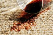 Red Wine Spill On A Pure Wool Carpet