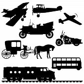 pic of carriage horse  - Silhouettes of transport - JPG