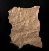 .burnt Paper Sheet poster